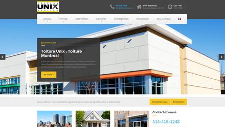 Site conçu pour le client : Toiture Unix