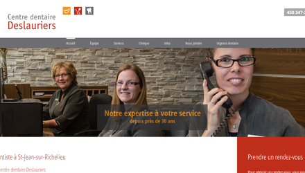 Optimisation client : Clinique dentaire Deslauriers