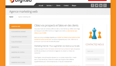 Agence marketing web : Digitad