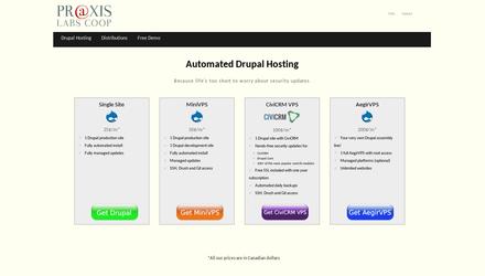 Notre site d'hébergement: hosting.praxis.coop