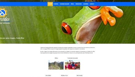 Site web de l'Agence de Voyages Mercedes