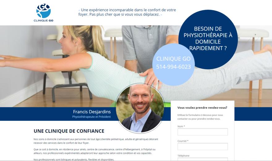 Conception Site Web Clinique GO