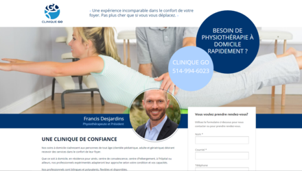 Conception Site Web Clinique GO