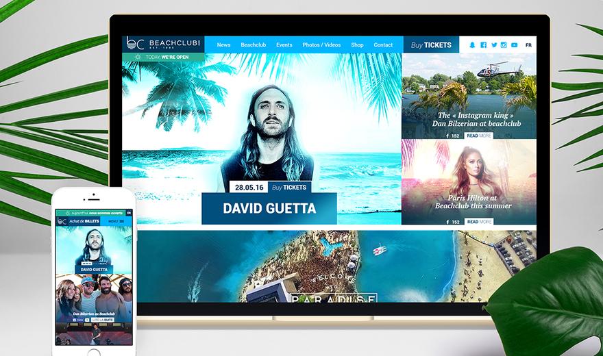 Site Web - Beachclub