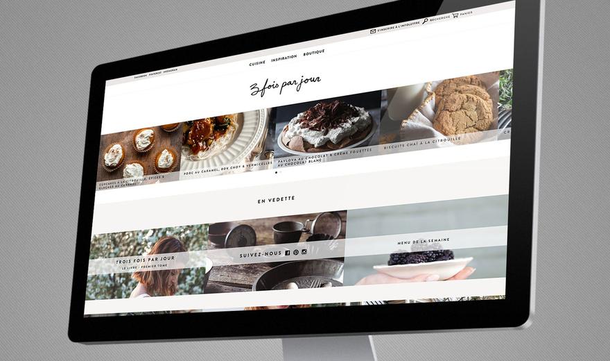 Site de commerce électronique - Trois fois par jour