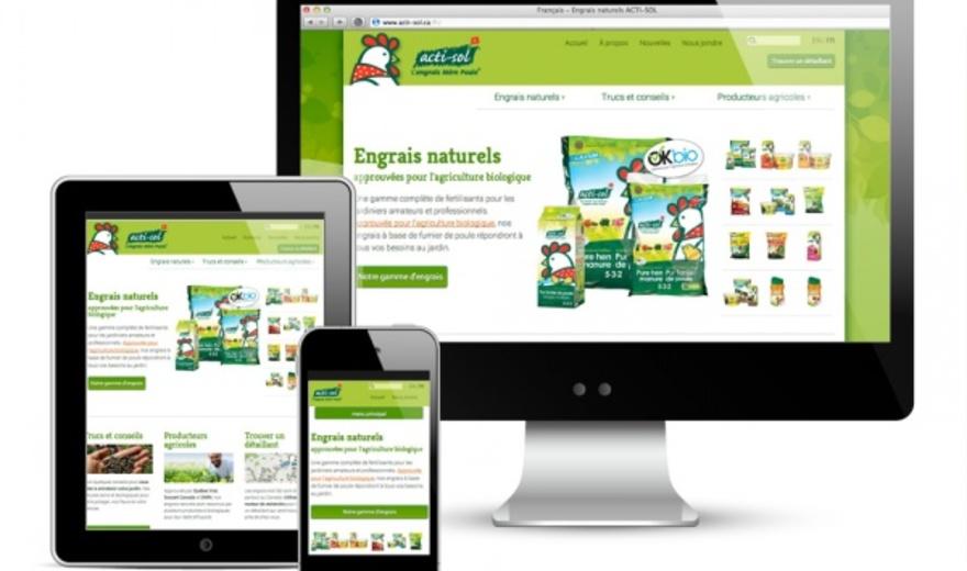 Site Web Acti-Sol Engrais naturel