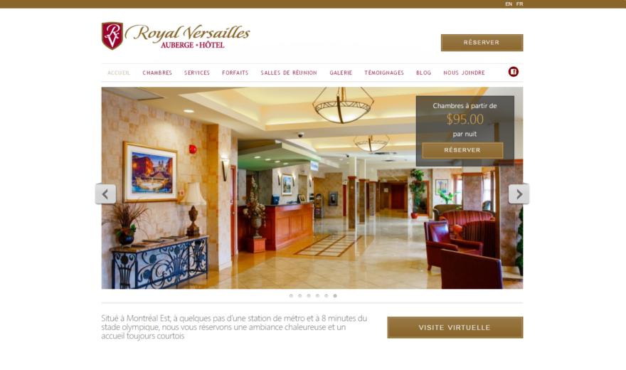 Référencement de Hôtel Royal Versailles