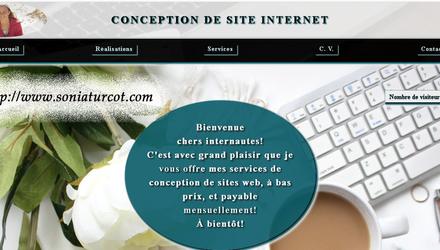 Sonia Turcot - Conception site web