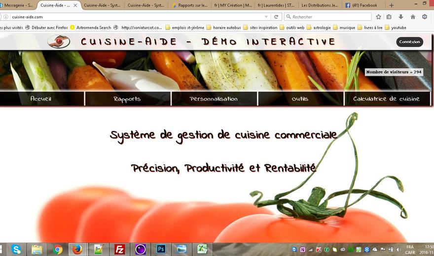 Cuisine-aide - Système de gestion de cuisine commerciale