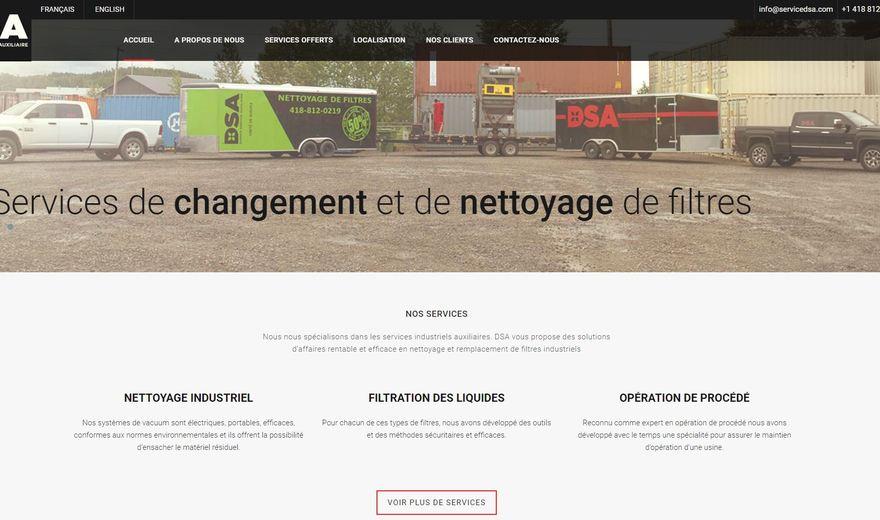 Site web entreprise de services industriels