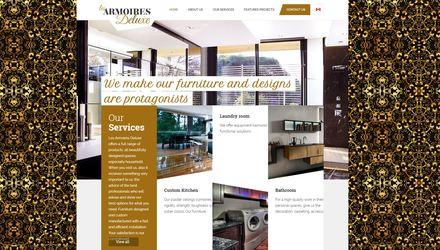 Site web entreprise fabrication armoires de cuisine
