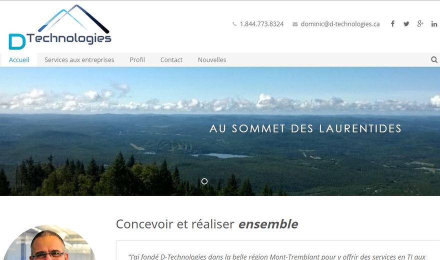 Site Web de D-Technologies
