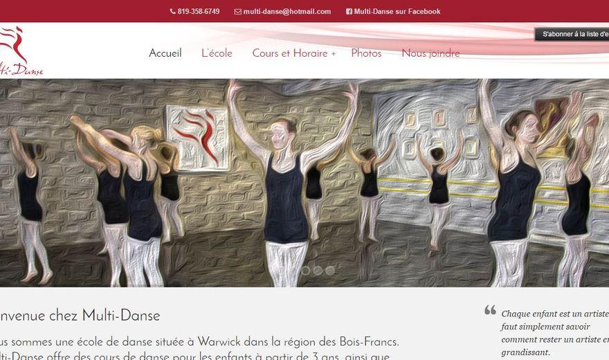 Site web de Multi-Danse