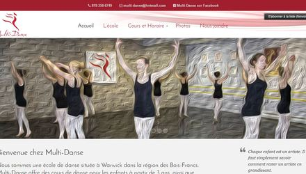 Site web de Multi-Danse