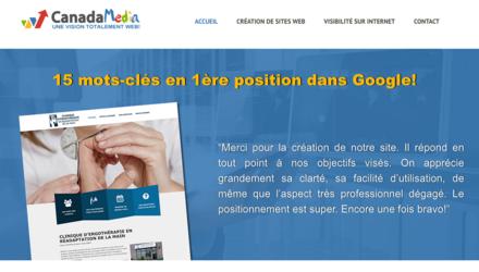 Canada MEDIA - Conception et positionnement Google