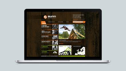 Sunn, marque emblématique de vélos de montagne.