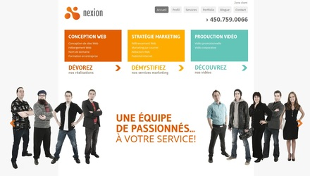 Site Web de Nexion