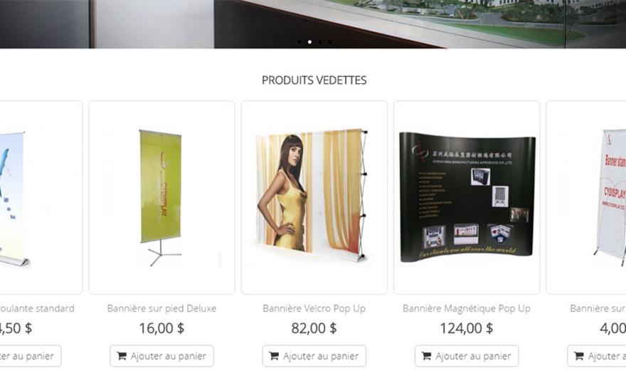 Boutique en ligne - LVP - Produits