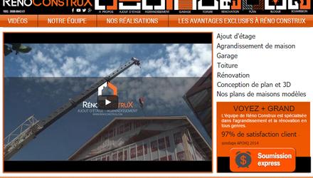 Nos réalisations web - Réno Construx