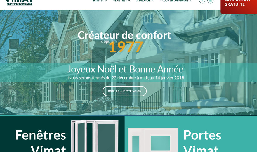 Conception du site web de Vimat d'Atis Group