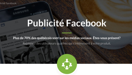 Publicité Facebook