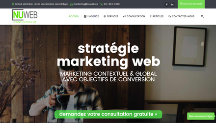 Agence Nuweb - Stratégie Marketing Web