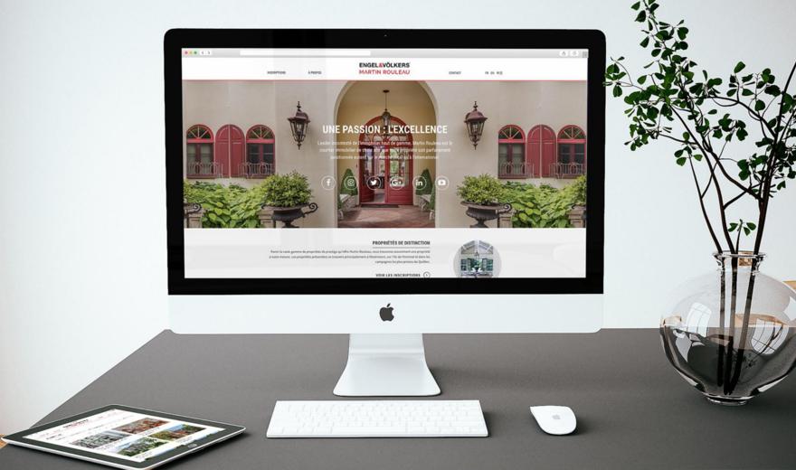 Site web Martin Rouleau avec intégration Centris®