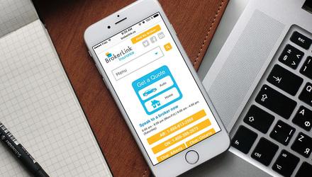 Brokerlink : Application d'affaires et site conforme au WCAG