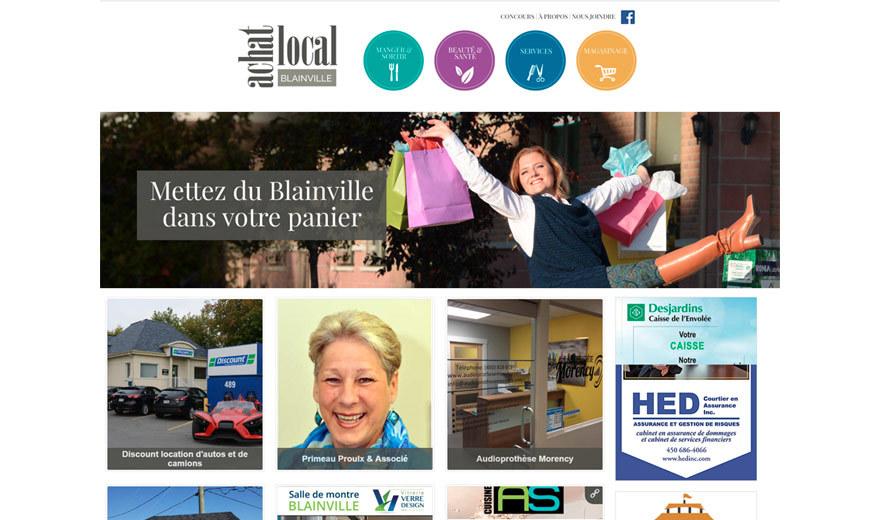Site web achatlocalblainville.com - CMS Drupal