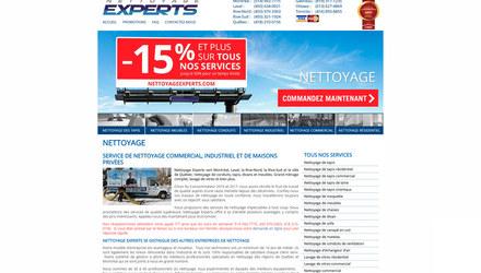 Nettoyage Experts - Site web WordPress
