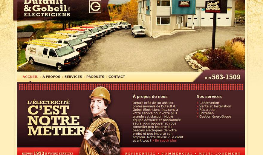 Création site internet Sherbrooke - Dufaut & Gobeil Électriciens