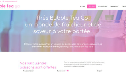 Conception web pour Bubble Tea Go.