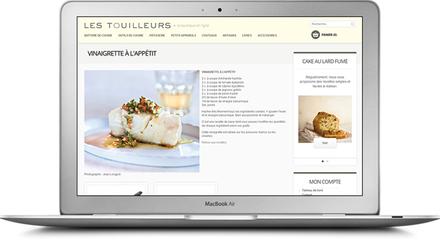 Conception de la boutique en ligne de Les Touilleurs