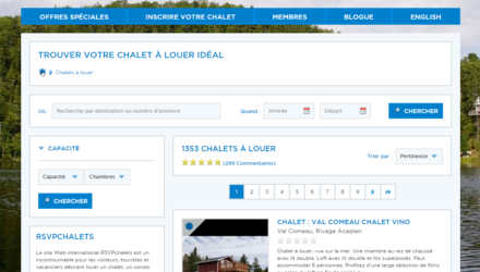 RSVPChalets.com Optimisation SEO