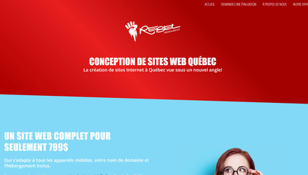 Rebelweb.ca  | Conception sites web Québec