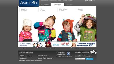 Souris Mini - Site Web