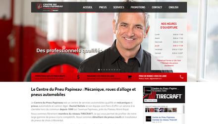 Site web pour centre de pneus