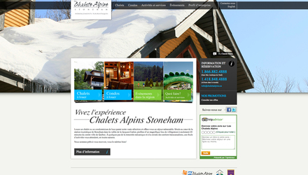 Les Chalets Alpins - Site Web
