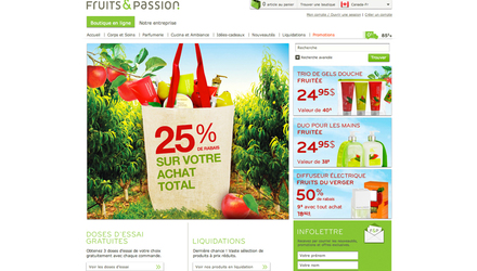 Fruits & Passion - Site Web