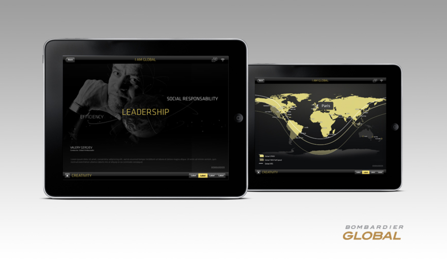 "Bombardier ""I am Global"" - Application iPad"