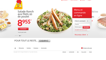 St-Hubert - Site Web