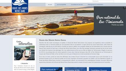 Site web route des Monts-Notre-Dame