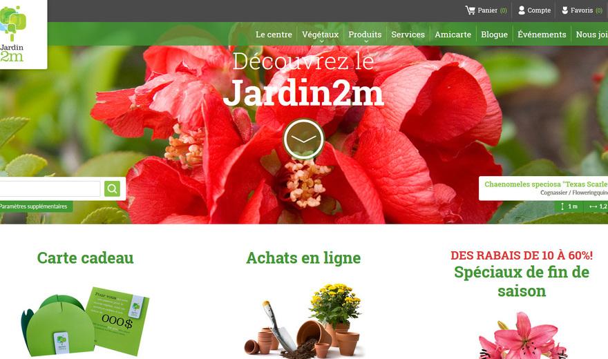 Jardin2M | Site transactionnel | Extranet