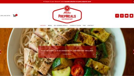 E-commerce - vente de plats préparés en ligne