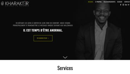 Site web de coach/motivateur et blogue