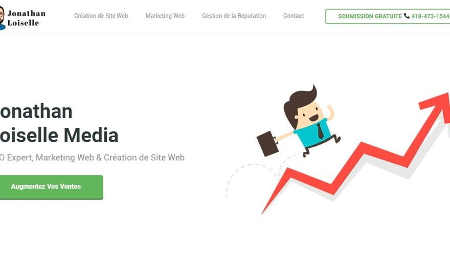 Site de l'agence de marketing web, Jonathan Loiselle Media