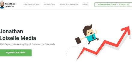 Site de l'agence de marketing web, Jonathan Loiselle Media