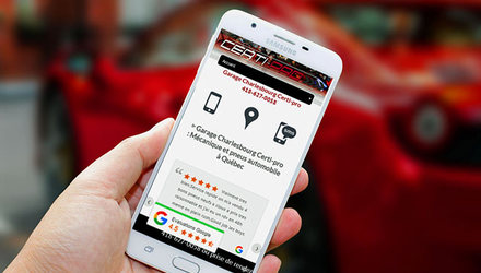 Optimisation pour mobile de site web