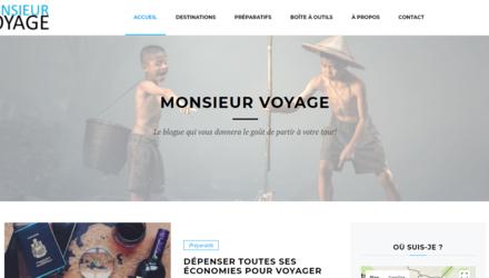 Site web de Monsieur Voyage