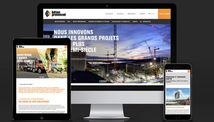 Site web de Béton Provincial